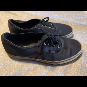 Vans Authentic Black Sneakers - Mens Size 9